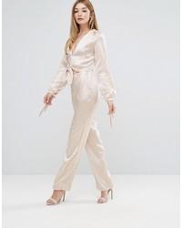 Combinaison pantalon beige Oh My Love