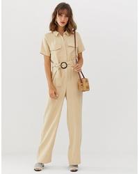 Combinaison pantalon beige Vero Moda