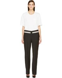 Combinaison pantalon blanche et noire Maison Margiela
