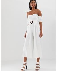 Combinaison pantalon blanche ASOS DESIGN