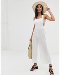 Combinaison pantalon blanche Fashion Union