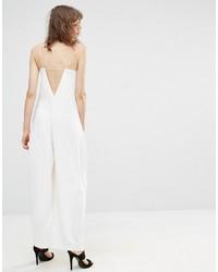 Combinaison pantalon blanche Mango