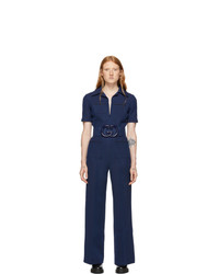 Combinaison pantalon bleu marine Gucci