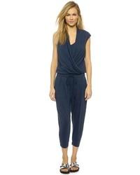 Combinaison pantalon bleu marine Helmut Lang