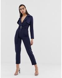 Combinaison pantalon bleu marine Missguided