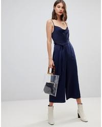 Combinaison pantalon bleu marine Warehouse