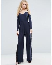 Combinaison pantalon bleue marine Asos