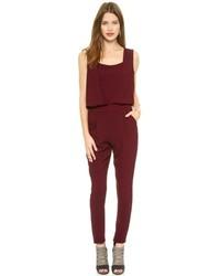 Combinaison pantalon bordeaux Rebecca Minkoff