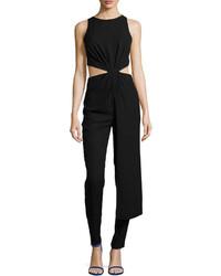 Combinaison pantalon découpée noire