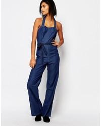 Combinaison pantalon en denim bleu marine Vero Moda