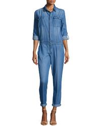 Combinaison pantalon en denim bleue