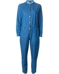Combinaison pantalon en denim bleue A.P.C.