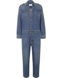 Combinaison pantalon en denim bleue Current/Elliott