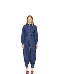 Combinaison pantalon en denim bleue Gucci