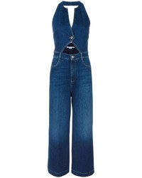 Combinaison pantalon en denim bleue Stella McCartney