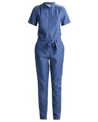 Combinaison pantalon en denim bleue Vila