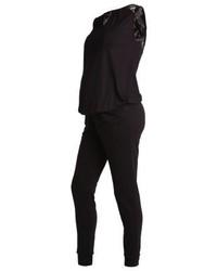 Combinaison pantalon en dentelle noire Anna Field