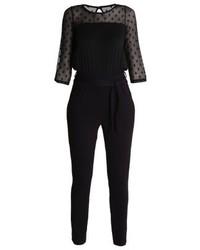 Combinaison pantalon en dentelle noire Dorothy Perkins