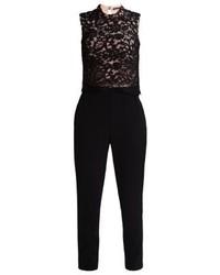 Combinaison pantalon en dentelle noire Esprit