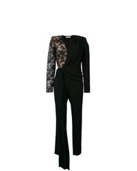 Combinaison pantalon en dentelle noire Givenchy