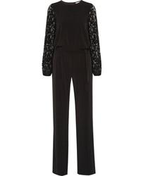 Combinaison pantalon en dentelle noire MICHAEL Michael Kors