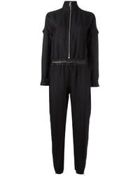 Combinaison pantalon en dentelle noire Versace