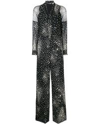 Combinaison pantalon en soie à étoiles noire RED Valentino