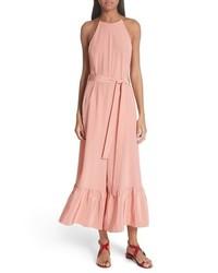 Combinaison pantalon en soie rose