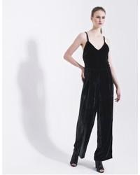 Combinaison pantalon en velours noire