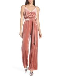 Combinaison pantalon en velours rose