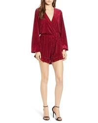 Combinaison pantalon en velours rouge