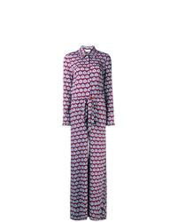 Combinaison pantalon géométrique violet clair La Doublej