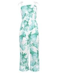 Combinaison pantalon imprimée blanche mint&berry