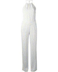 Combinaison pantalon imprimée bleu clair Love Moschino
