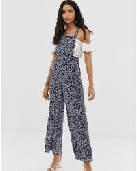 Combinaison pantalon imprimée bleu marine Miss Selfridge