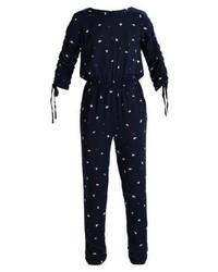 Combinaison pantalon imprimée bleu marine Vila