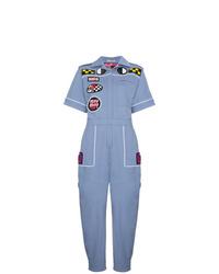 Combinaison pantalon imprimée bleue Miu Miu