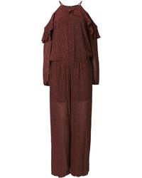 Combinaison pantalon imprimée bordeaux MICHAEL Michael Kors