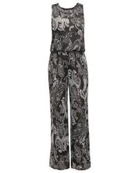 Combinaison pantalon imprimée cachemire gris foncé Anna Field