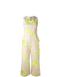 Combinaison pantalon imprimée marron clair MSGM
