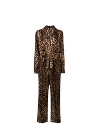 Combinaison pantalon imprimée marron foncé Dolce & Gabbana