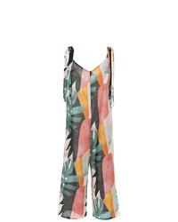 Combinaison pantalon imprimée multicolore BRIGITTE