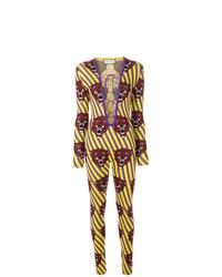 Combinaison pantalon imprimée multicolore Gucci