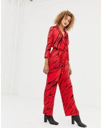 Combinaison pantalon imprimée rouge Only