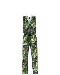 Combinaison pantalon imprimée verte Lygia & Nanny