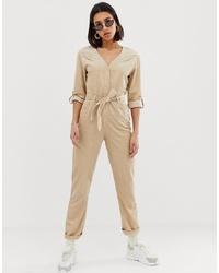 Combinaison pantalon marron clair Mango