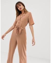 Combinaison pantalon marron clair Vero Moda