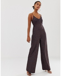 Combinaison pantalon marron foncé Miss Selfridge