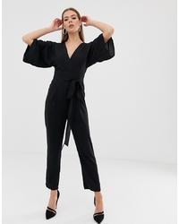 Combinaison pantalon noire ASOS DESIGN