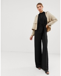 Combinaison pantalon noire Mango